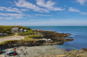 Seaside cottage in an idyllic location, at Porth Colmon